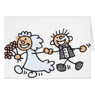 El boda de novia y del novio Elope fuga Tarjeta De Felicitación