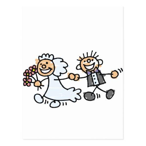 El boda de novia y del novio Elope fuga Tarjetas Postales