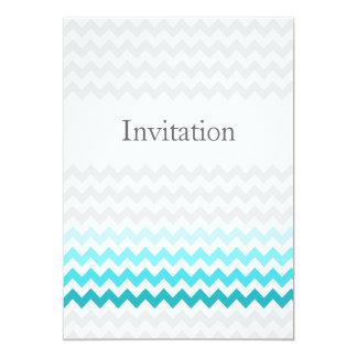 """El boda de Ombre de la aguamarina del galón de la Invitación 5"""" X 7"""""""