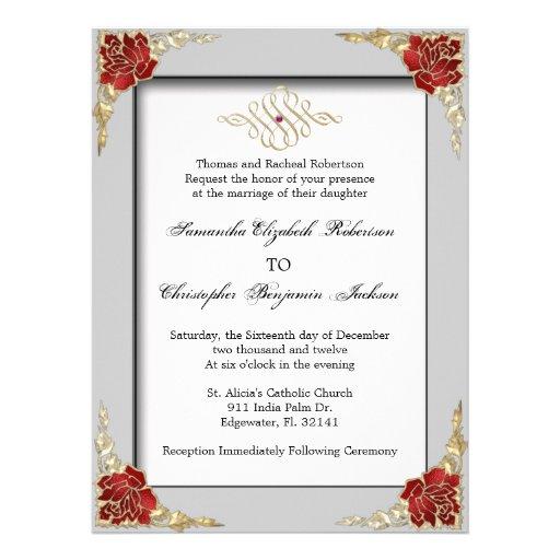 El boda de oro elegante del oro del acento invita invitación
