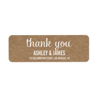Etiquetas de agradecimiento