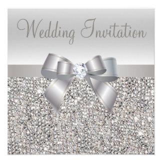 El boda de plata de las lentejuelas del arco y de comunicado