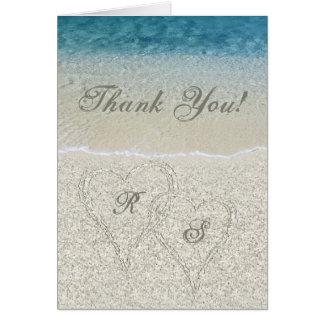 El boda de playa de Sandy del brillo le agradece Tarjeta De Felicitación
