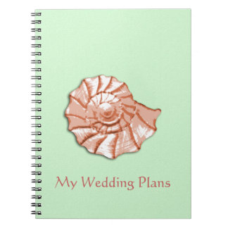 El boda de playa del Seashell planea el cuaderno