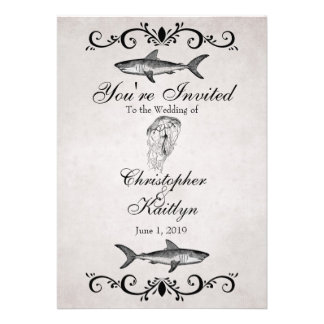 El boda de playa del tiburón y de las medusas del  anuncios