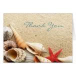 el boda de playa elegante de los seashells del océ tarjeton