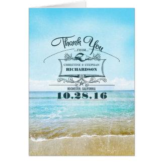 El boda de playa le agradece las tarjetas
