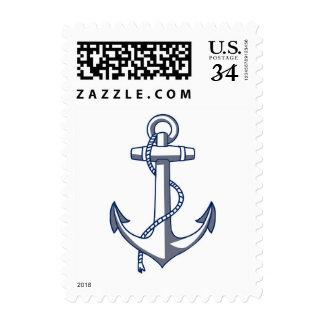 El boda de playa náutico del tema de la postal sellos postales