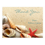el boda de playa romántico elegante de los seashel postales