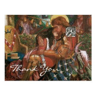 El boda de Rossetti de San Jorge y de princesa Postales