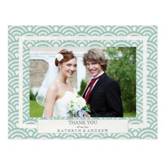 El boda de Seigaiha del japonés agradece le/la Postal