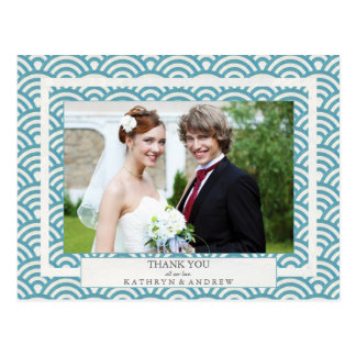 El boda de Seigaiha del japonés agradece le/la Tarjeta Postal
