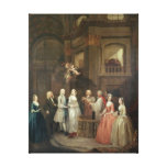 El boda de Stephen Beckingham y de Maria $cox Impresión En Lienzo