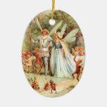 El boda de Thumbelina en el bosque Adorno De Reyes