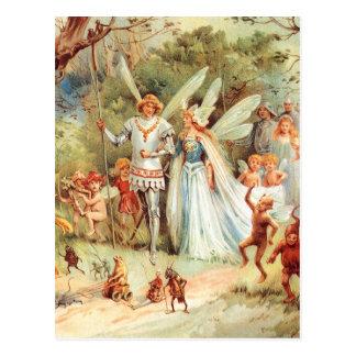 El boda de Thumbelina en el bosque Tarjetas Postales