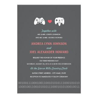 El boda del amor del regulador del videojugador in comunicados personalizados