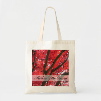 el boda del árbol de arce rojo de la caída bolsa tela barata