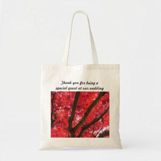 el boda del árbol de arce rojo de la caída bolsas de mano