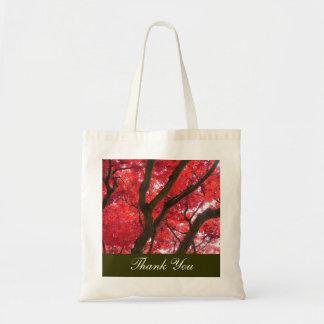 el boda del árbol de arce rojo de la caída bolsa de mano