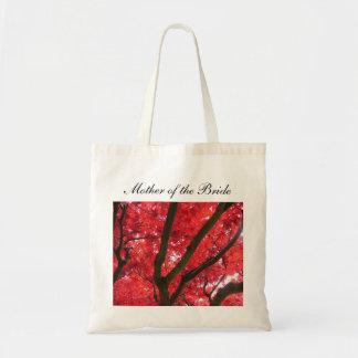 el boda del árbol de arce rojo de la caída bolsas lienzo