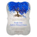 El boda del árbol de la hoja del corazón del azul  comunicado