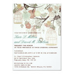 El boda del árbol de las flores de las jaulas de invitación 11,4 x 15,8 cm