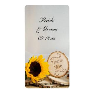 El boda del arbolado del girasol le agradece etiqueta de envío