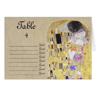 El boda del beso por la tabla de Klimt numera la Tarjeta Pequeña