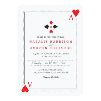 """El boda del casino invita invitación 5"""" x 7"""""""