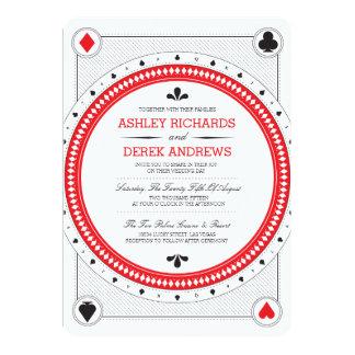 El boda del casino invita por las impresiones de invitación 12,7 x 17,8 cm