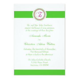 El boda del círculo del punto del monograma de Z Invitaciones Personales