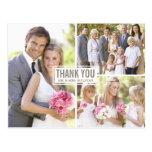 El boda del collage de tres fotos le agradece post