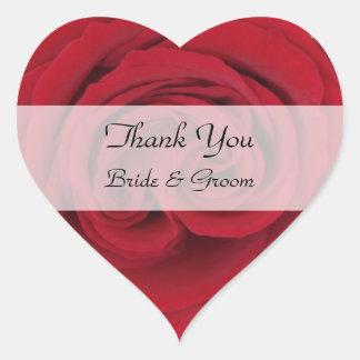 El boda del corazón le agradece los pegatinas --