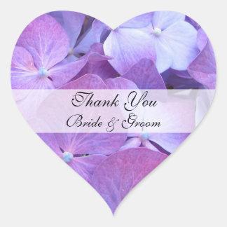El boda del corazón le agradece pegatina - Hydrang
