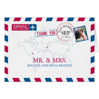 El boda del correo aéreo de la FLORIDA los Tarjeta Pequeña