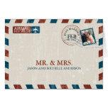 El boda del correo aéreo del vintage le agradece tarjeta