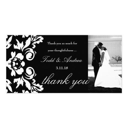 el boda del damasco 311-White le agradece tarjeta  Tarjeta Personal Con Foto