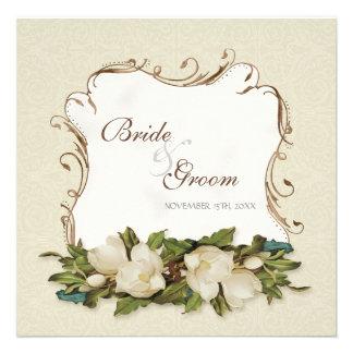 El boda del damasco de los remolinos de la magnoli anuncios