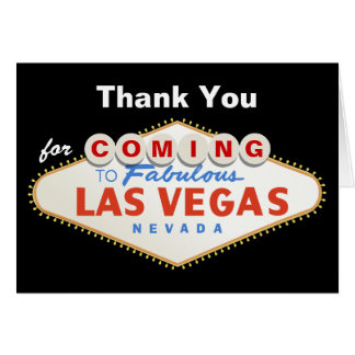 El boda del destino de la muestra de Las Vegas le Tarjeta