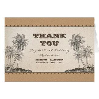 el boda del destino de las palmeras le agradece felicitacion