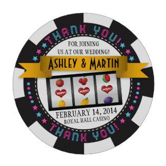 El boda del destino del casino de Vegas le agradec Fichas De Póquer