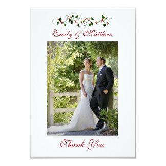 """El boda del día de fiesta de diciembre le agradece invitación 3.5"""" x 5"""""""