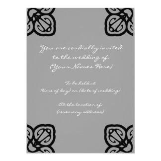 El boda del diseño del Grayscale invita Invitación 16,5 X 22,2 Cm