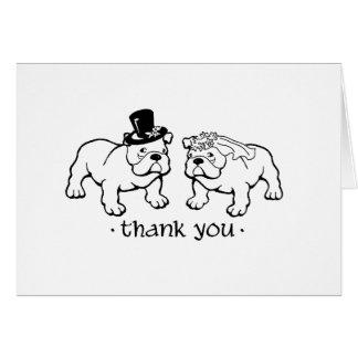 El boda del dogo le agradece las notas tarjetas