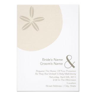 El boda del dólar de arena invita de novia y de invitación 12,7 x 17,8 cm