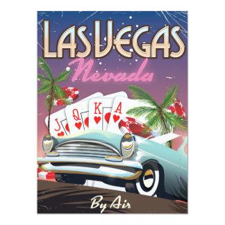 """El boda del estilo del vintage de Las Vegas invita Invitación 6.5"""" X 8.75"""""""