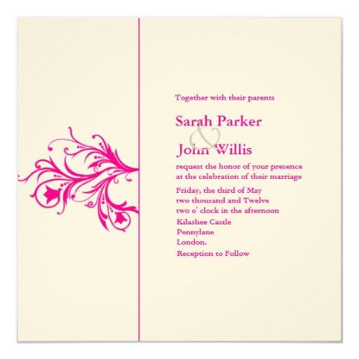 El boda del Flourish invita Invitación 13,3 Cm X 13,3cm