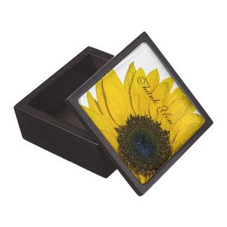 El boda del girasol le agradece caja de regalo caja de recuerdo de calidad