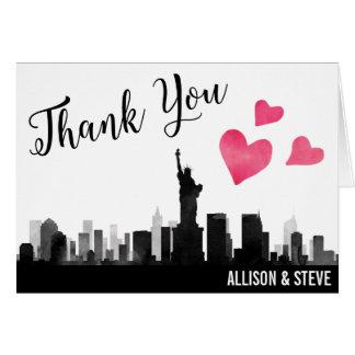 El boda del horizonte de New York City le agradece Tarjeta Pequeña