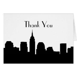El boda del horizonte de NYC le agradece las Tarjeta De Felicitación